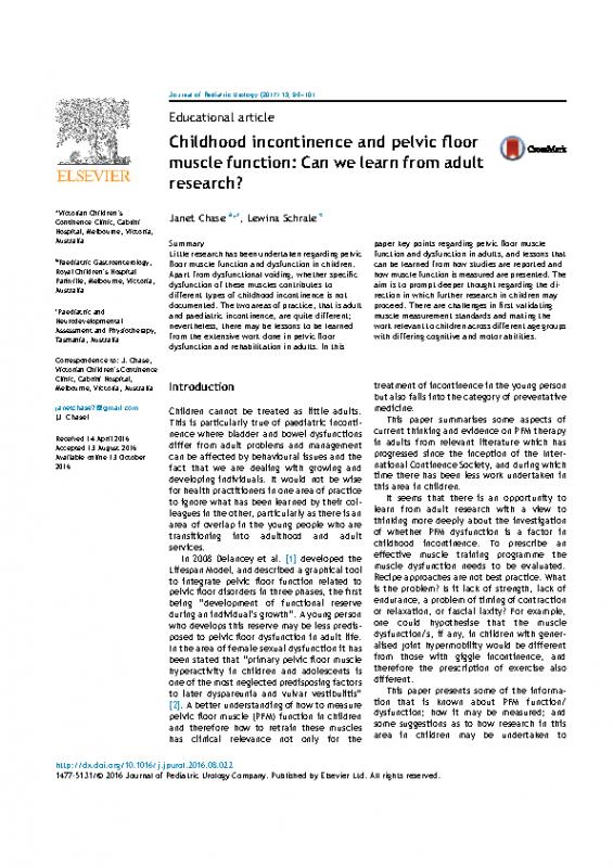 PF Assessment in Children
