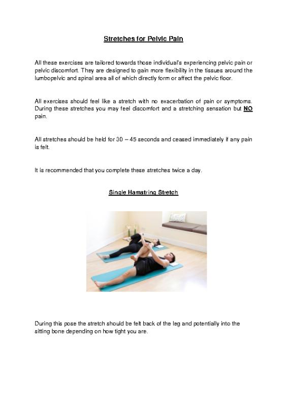 Pelvic Health Stretches