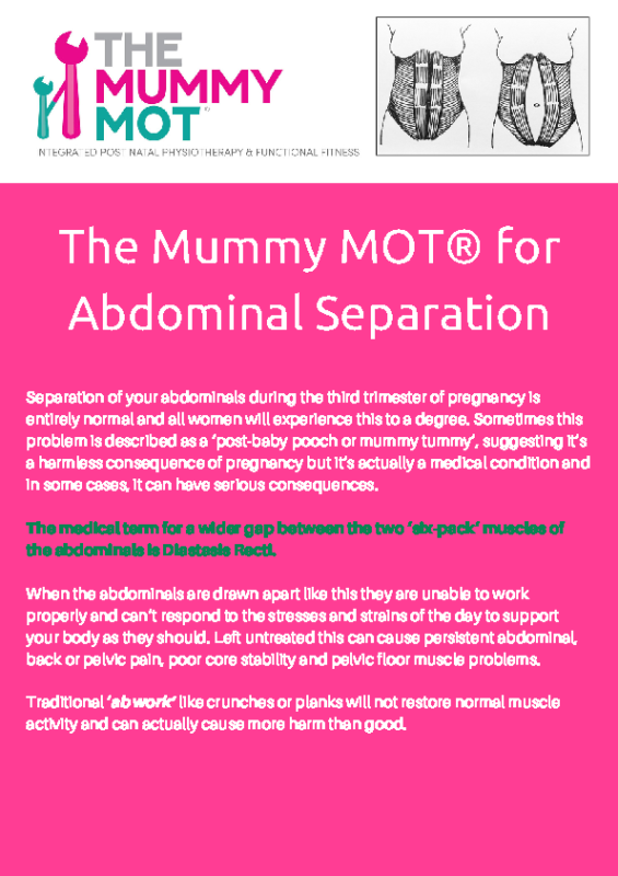 The Mummy MOT® for Abdominal Handout