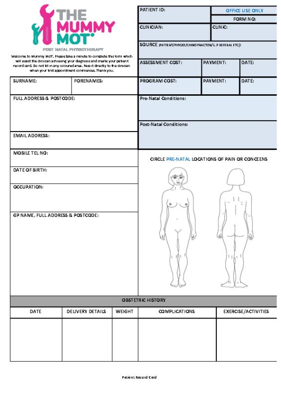 Mummy MOT Assessment June 2 2016