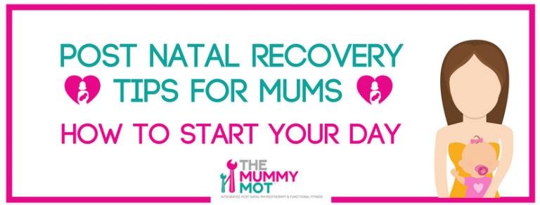 postnatal recovery tips header